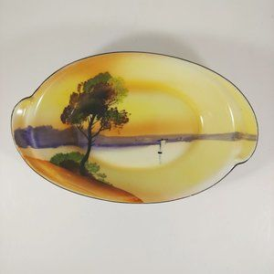 NORITAKE Vintage Hand Painted Oval Serving Dish